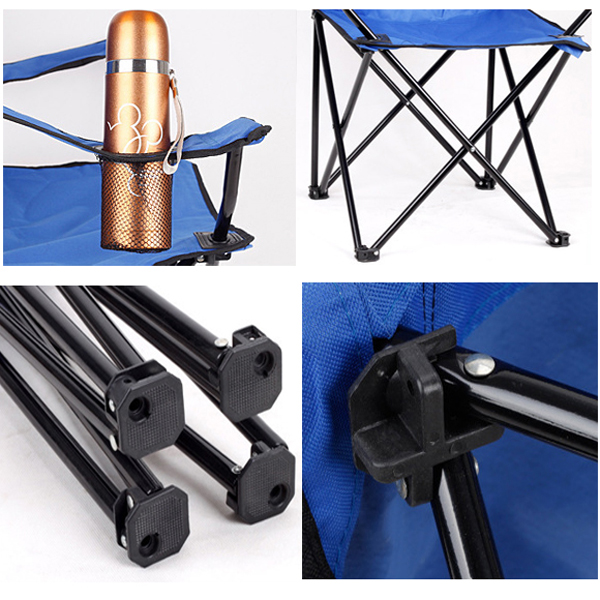 Promotion! 2X Heavy Duty Folding Camping Director Chair With Cup Holder Portable(China (Mainland))