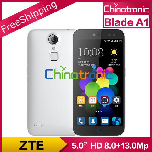 "Original ZTE Blade A1 C880U C880A Android 5.1 Mobile Phone MTK6735 Quad Core 1.3G Dual SIM 5.0""HD 2G RAM 16G ROM 13M FingerPrint(China (Mainland))"