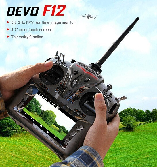 Walkera DEVO F12 FPV 12 Channel 5.8GHz/4.7'' Color Touch Screen/Real Time Transmitter(China (Mainland))