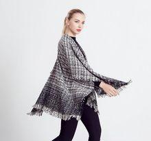 BeAvant vrouwen capes en poncho warme wollen trui Gebreide katoenen wrap shawl Tricot haak herfst batwing mouwen truien