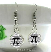 HE82  PI  Earrings Math Jewelry Teachers, Science, Mathematics Symble Black and White Art Charm(China (Mainland))