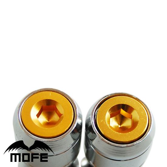 HIGH QUALITY Original Logo 44mm Aluminum Cap Acorn Close End Formula Lock Lug Nuts For Wheel M12 * P1.25 1.25 Gold(China (Mainland))