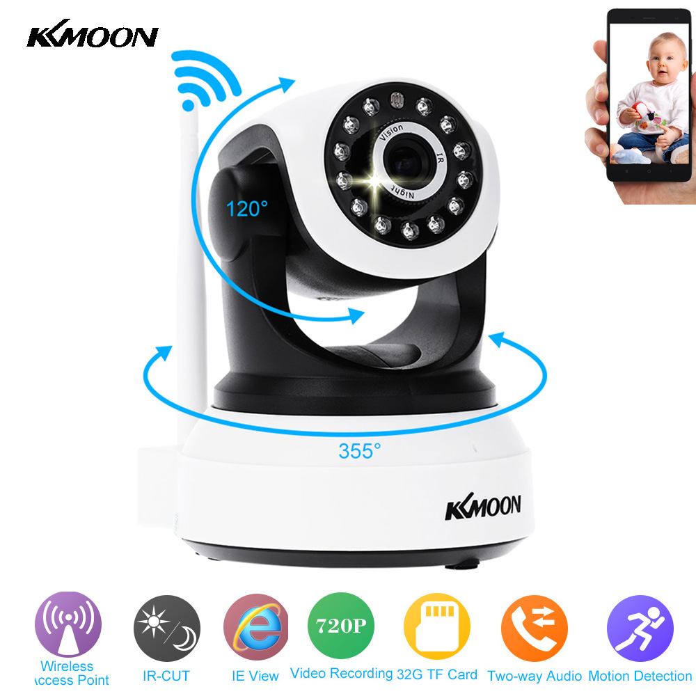 KKMOON HD Wireless Wifi IP Camera 720P IR Night Vision Onvif P2P Security Camera Audio Recording IP Wifi Camera Support TF Card(China (Mainland))