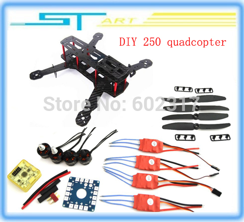 RC Carbon Fiber Mini 250 C250 Quadcopter brushless emax Motor 12A Esc Flight Control with 5030 propellers pro<br><br>Aliexpress
