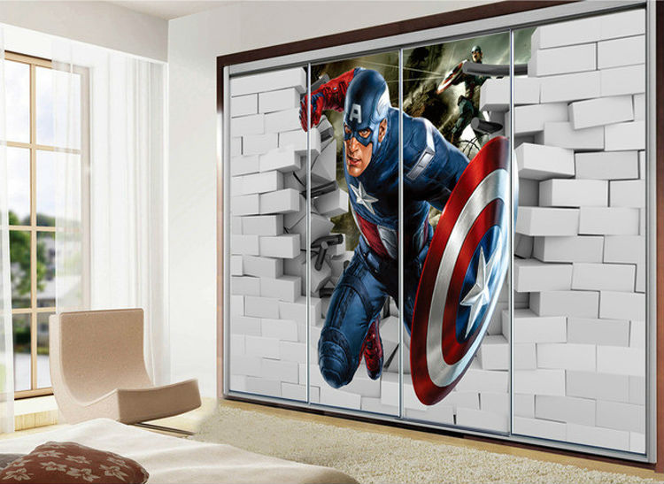 Buy 3d captain america wallpaper avengers for Club joven mural