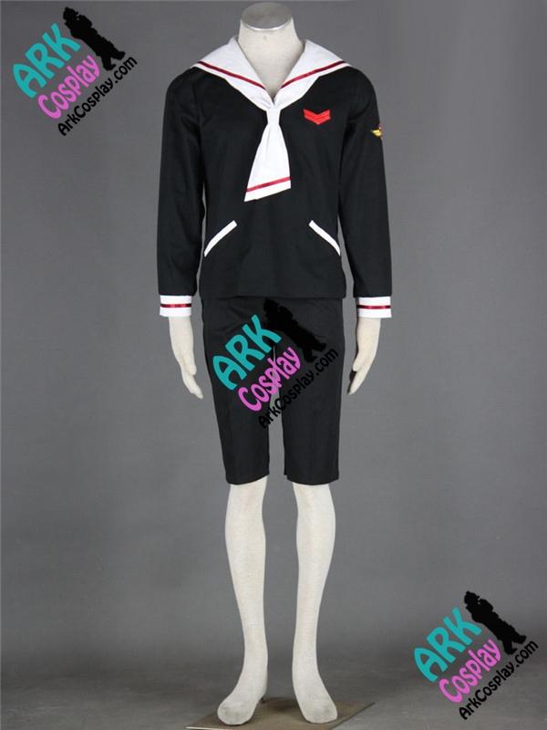 Sakura Card Captor Liyaoran Cosplay Black Japanese School Mens Uniform Costume