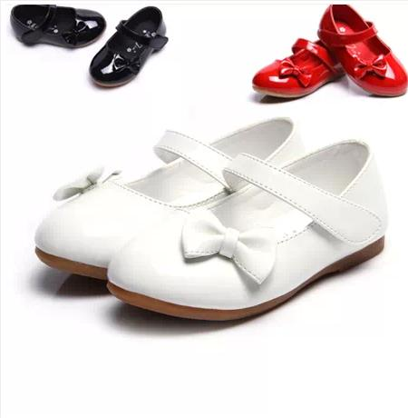 Baby shoes white female child leather princess bow wedding shoes flower(China (Mainland))
