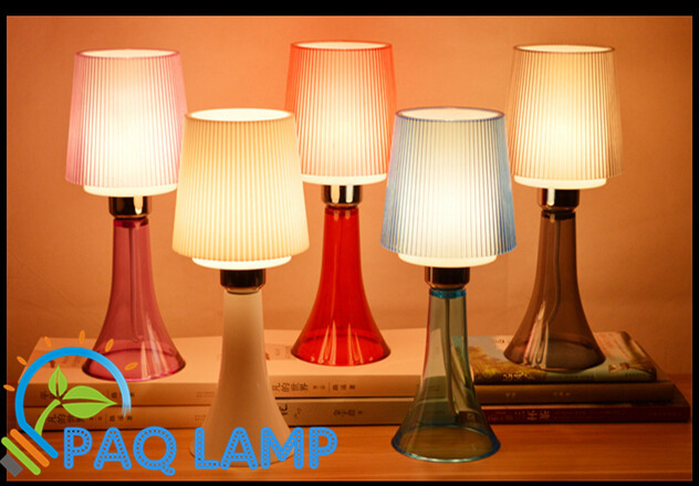 Modern table lamp multicolor acrylic light led light acrylic and ABS lamp shade bed room Office LED small table lamp(China (Mainland))