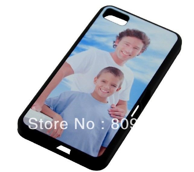 Z10 TPU+PC Soft Silicone DIY sublimation blank case with aluminum insert and glue for BB Z10 50pcs/lot(China (Mainland))