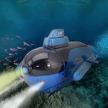 New Mini Green Radio RC Remote Control Sub Submarine Boat Explorer LED Toy Gift BlueLucky(China (Mainland))