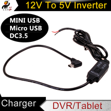 DC 12V to 5V Inverter Converter Micro Mini USB Hard Wired Car Charger for GPS Tablet Phone PDA DVR Recorder Camera