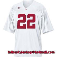 Alabama Crimson Tide #22 Mark Ingram White College Jerseys with 100% stitched(China (Mainland))
