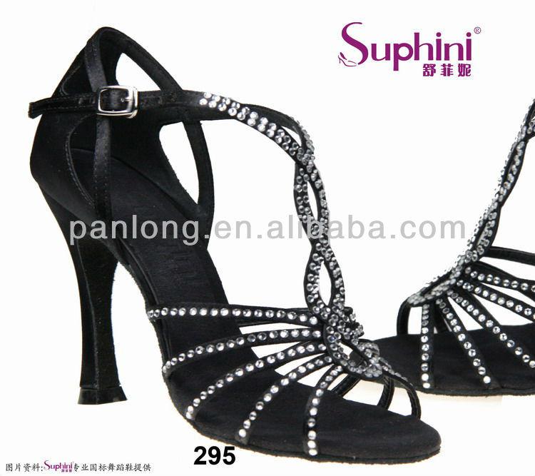 2013 Fashion Professional High Flare heel Satin Wedding Party Rhinestone Latin dance shoes<br><br>Aliexpress