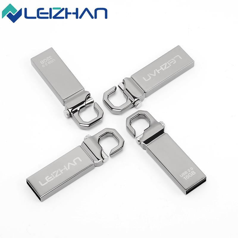 LEIZHAN USB Flash Drive Metal USB 2.0 Memory Stick 4G 8G 16G 32G Memory Flash Stick Pendrive Wholesale U Disk USB PenDrive(China (Mainland))