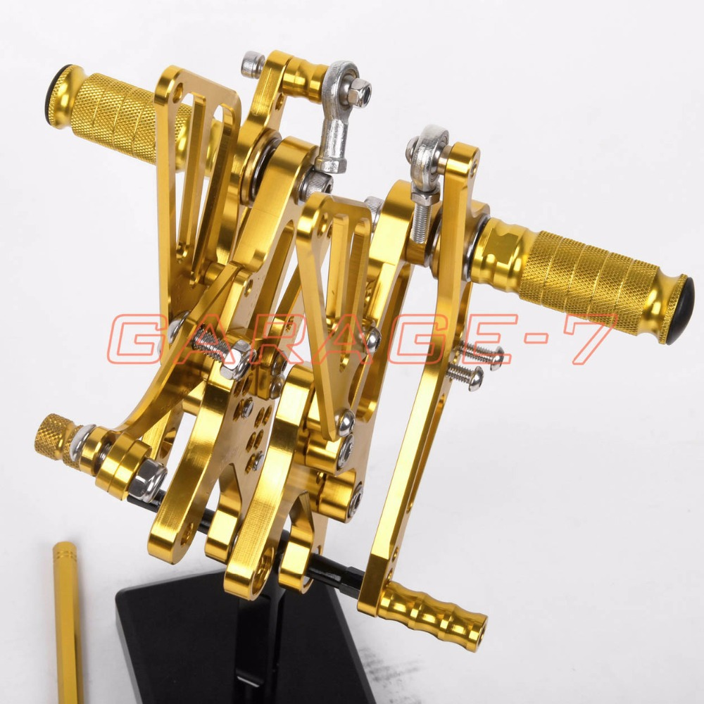 A New Yellow CNC Rearsets Foot Rests Rear Set For Yamaha YZF R1 2003 2002 Motorcycle Foot Pegs<br><br>Aliexpress