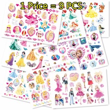 Buy SHNAPIGN 9 pcs/lot Princess Series Temporary Body Arts, Flash Tattoo Stickers 17*10cm, Waterproof Children Loves Toy Stickers for $4.46 in AliExpress store