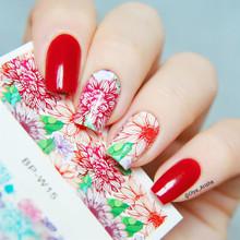 2 Patterns/Sheet Fantastic Flower Nail Art Water Decals Transfer Sticker BORN PRETTY BP-W15