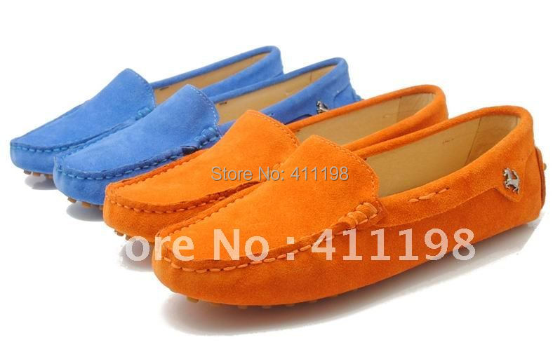 DHL Free shipping! Hot selling women leather Loafers lady Shoes + fast delivery + Best seller  F960 Orane color<br><br>Aliexpress