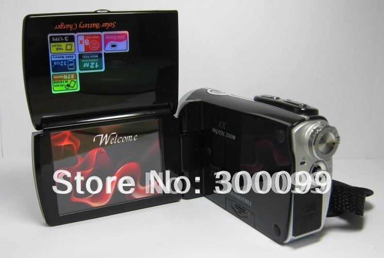 12MP Dual solar charger digital video camera with 2.7 inch screen and lithium battery<br><br>Aliexpress
