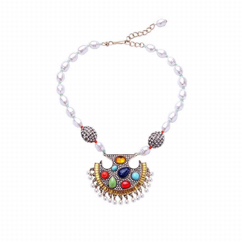 Jewelry Wholesale/2016 Boho Pendant Necklace Indian Necklace Jewelry Factory supply free shipping Min $20(can mix)(China (Mainland))