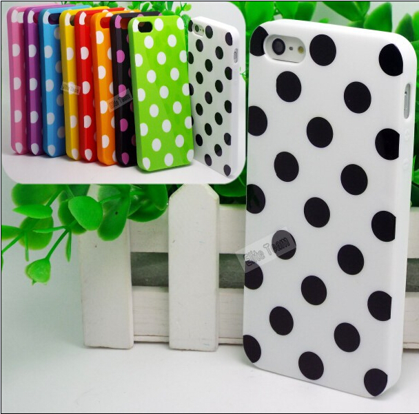 5/5S SE 4'' Creative Design Polka Dot Silicon Soft TPU Cover Cases For Apple iPhone5/5S Case For iPhone 5 SE iPhone 5S Shell(China (Mainland))