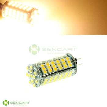 G4 GU4 GZ4 GU5.3 6W 3500K 510-Lumen 102-3528 SMD LED Warm White Light Bulb (DC 12V) LED Spotlight