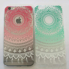 Cover for huawei p8 p8lite luxury Romantic Mandala Flower Soft Back phone Case for huawei p9 p9lite p9plus mobile accessories