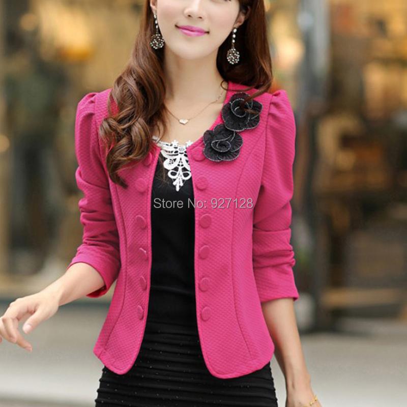 New 2015 Blazer Women Spring Slim Blaser Double Breasted Top Short Design Plus Size Blazer Jacket Female Suit & Women Work Wear(China (Mainland))