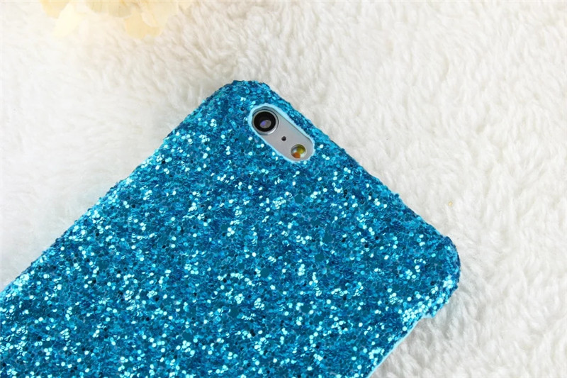 New Luxury 3D Colorful Bling Glitter Back Shell  Matte Hard Plastic Phone Cases Cover For iPhone 5 5G 5S SE 6 6G 6S 6Plus 5.5