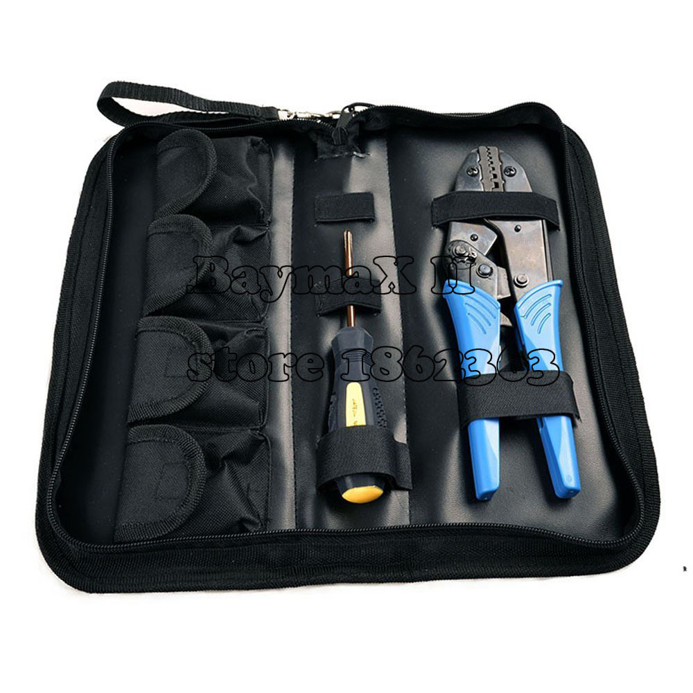 Crimping tool kit for different kind terminals with 5 changeable die sets from 0.5mm2-35mm2(China (Mainland))