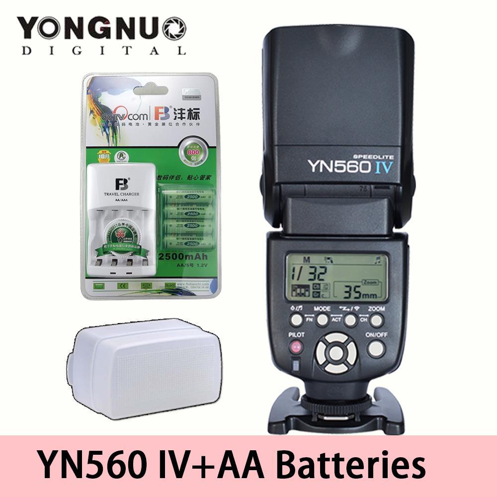 YONGNUO YN-560 IV Flash Speedlite w 2500mAh AA batteries  for Canon 650D Nikon D7100 D7000 Pentax K3 645D K5 IIs K-500 K-S1 645Z<br><br>Aliexpress
