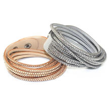 New arrival fashion bracelet 6-layer wrapped les kepi bracelet with crystal jewelry lovers Ladies Bracelet