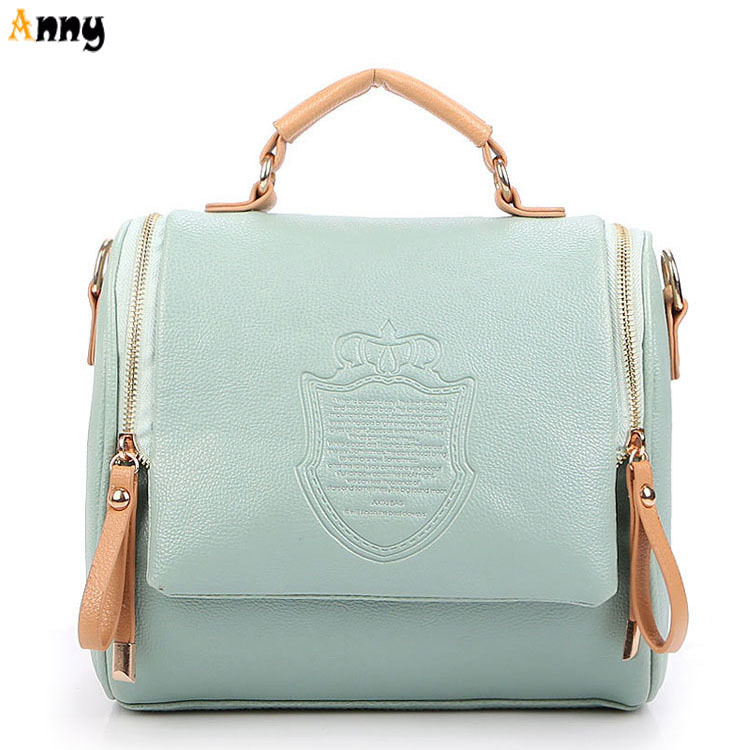 ANNY-Hot Sell Luxury European Style Embossed Crown Pattern Leather Women Bags,Fashion Women Leather Handbags,Discount Ladies Bag(China (Mainland))