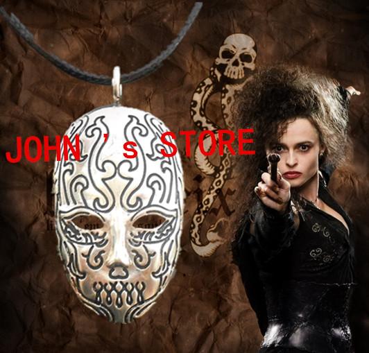 Freeshipping 20pcs a lot Harry Potter Bellatrix Lestrange Death Eater Mask Pendant necklace GBOK07<br><br>Aliexpress