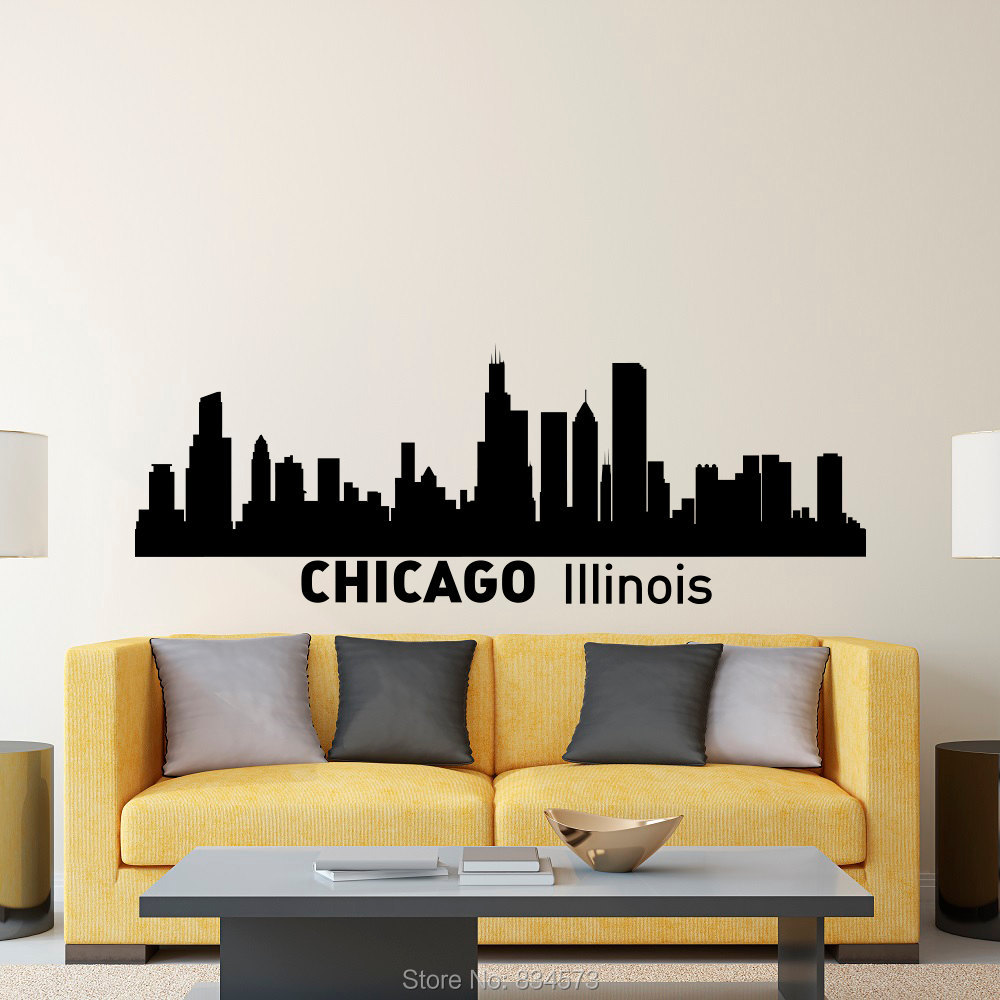Online Get Cheap Wall Decal Chicago Aliexpresscom Alibaba Group - Custom vinyl decals chicago