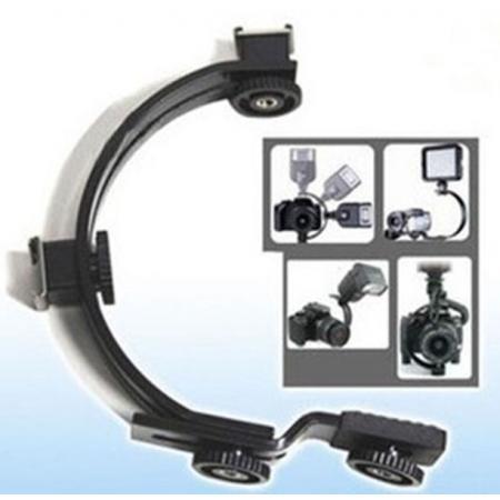 50pcs Camera Steadicam C Shape Flash Camera Mini DV Camcorder Mounting Bracket Holder TWO Hot   Shoes Mounts for DC DSLR SLR<br><br>Aliexpress