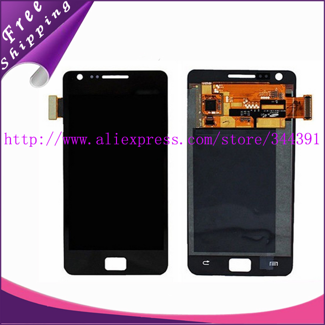10pcs/lot 100% Original tested For Samsung Galaxy S2 i9100 LCD Display+Touch Screen Digitizer Assembly Free shipping +Tracking