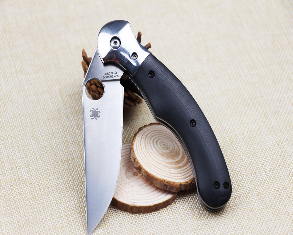 Buy heat! Spider C173 outdoor camping folding knife high hardness G10 handle convenient tactical outdoor tool knife free shipping cheap