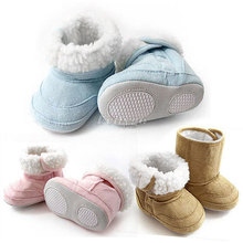 baby Warm Winter Ankle Snow Boots Infant Shoes Pink Khaki Antiskid Keep Warm Baby Shoes First Walkers(China (Mainland))