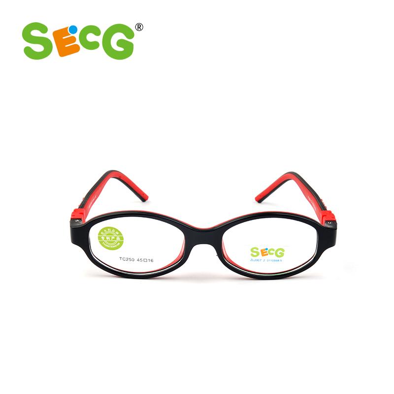 Fashion Glasses Frame SECG Kids Glasses Frame TC250 kids TR90 Children Glasses Vision Correction(China (Mainland))