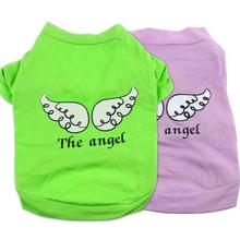 Buy 2017 Hot selling Cute Pet Puppy Dog Clothes Green Red Angel Wing Pattern T-shirt Shirt Tops Hondenkleding Summer Dog Clothes for $1.13 in AliExpress store