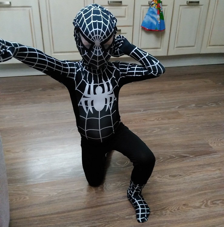 2016 NEW Black Spiderman Costume Spider Man Suit Spider-man Costumes Adults Children Spider-Man Cosplay Clothing(China (Mainland))