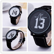 New Design top Quality men s Leather Strap Watch Women 1314 Fashion Casual Watch Ladies Analog