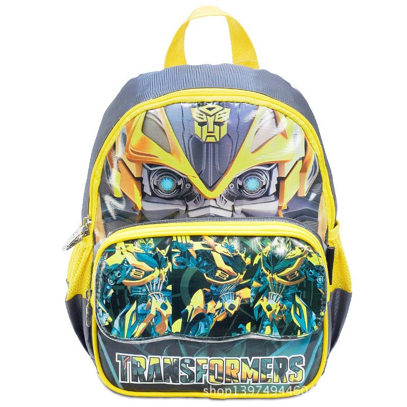 2 colors Optimus Prime bags Transformers backpack children school bags for boys 2014 new mochilas yellow&blue T0033(China (Mainland))