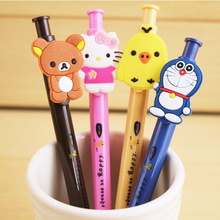 Buy Kawaii cartoon Ballpoint pens Office school supplies 0.5mm ball point pens Creative Stationery Writing chancery for $1.00 in AliExpress store