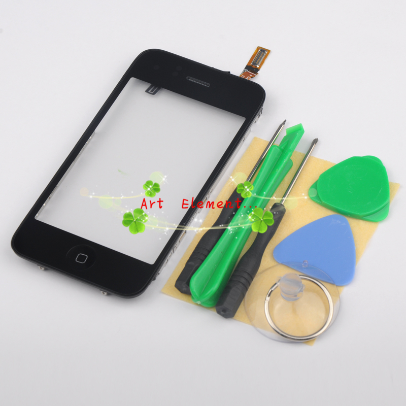 Black For Iphone 3G Iphone 3GS Touch screen Digitizer +Mid Frame+Home Button+Earpiece+ Sensor Assembly+tools(China (Mainland))