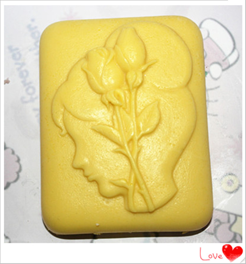 Rose girl mold Soap mold Hand-made mold Silicone cake mold production Country Girl Model(China (Mainland))