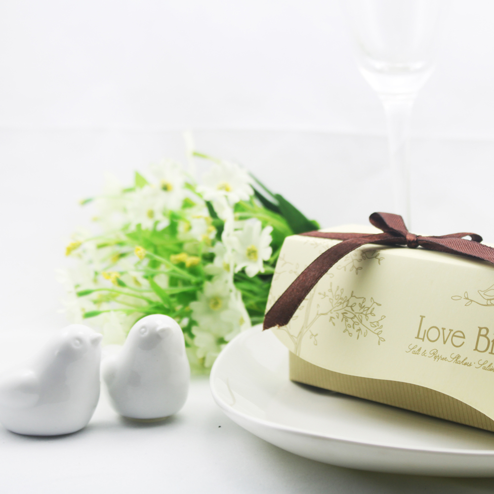 Wholesale 1000pcs=500 Set Newest wedding favor Love Birds Salt and Pepper Shaker Party favors for wedding gift Free Shipping(China (Mainland))