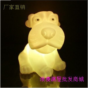 Free Shipping HGHomeart Zodiac Dog LED Nightlight spread the supply of wholesale colorful Valentine's holiday gift ideas(China (Mainland))