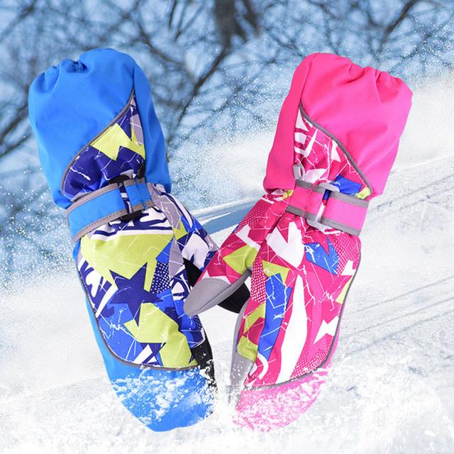 Marsnow Зимние Девушки Парни Лыж Катание На Лыжах Велосипед Велоспорт Езда Теплый Водонепроницаемый Ветрозащитный зимние лыжные перчатки детей